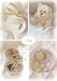 Set of baby objects Royalty Free Stock Photography
