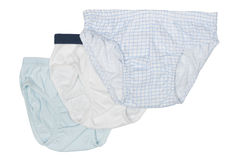 Set of baby pants for boys Stock Photos