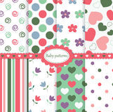 Set of baby patterns Stock Image
