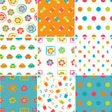 Set of baby patterns vector illustration