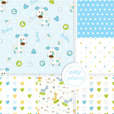 Set of baby patterns Stock Photo