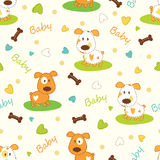 Set of baby patterns Royalty Free Stock Photos