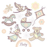 Set of baby products Stock Photo