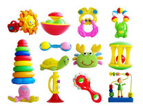 Set of baby's toys. Isolated Royalty Free Stock Images