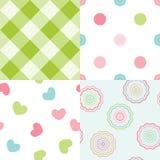 Set of baby seamless patterns Stock Photo