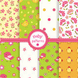Set of baby seamless patterns Stock Photography