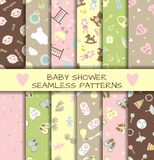 Set of baby shower flat elements Royalty Free Stock Photography