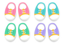 Set of baby sport Shoes. Footwear for Kids. Stock Image