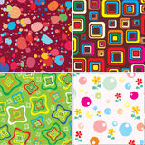 Set baby textures. Set baby, merry, vector textures stock illustration