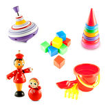 Set of baby toys Royalty Free Stock Photo
