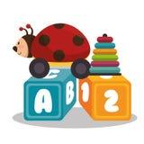 set baby toys icon Royalty Free Stock Photos