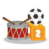 set baby toys icon Royalty Free Stock Images