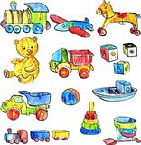 Set of baby toys Royalty Free Stock Photos