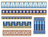 Set of Babylonian designs. A set of different Babylonian style border pattern designs Royalty Free Stock Photo