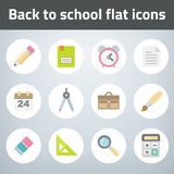 Set back to chool flat style icon Stock Images