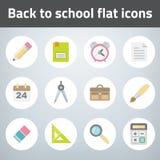 Set back to chool flat style icon Stock Images