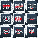 Set of Back to School backgrounds. Education banner. Vector illustration. Royalty Free Stock Photo