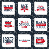Set of Back to School backgrounds. Education banner. Vector illustration. Royalty Free Stock Photography