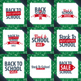 Set of Back to School backgrounds. Education banner. Vector illustration. Royalty Free Stock Image