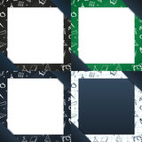 Set of Back to School backgrounds. Education banner. Vector illustration. Royalty Free Stock Photos