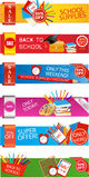 Set of Back to School banners Stock Images