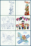 Set of back to school concept vector illustration Royalty Free Stock Photography