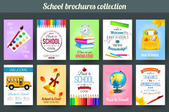 Set of back to school and education typographical Royalty Free Stock Photo
