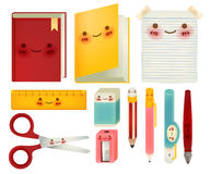 Set of back to school icons Stock Images