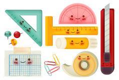 Set of back to school icons. Vector file EPS10 Stock Photography