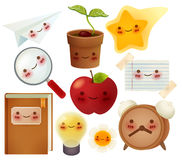 Set of back to school icons Royalty Free Stock Photos