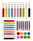 Set of back to school icons. Vector file EPS10 Stock Photos