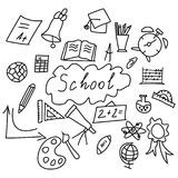 Set of back to the school icons royalty free illustration