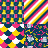Set of Back to school patterns Stock Photography