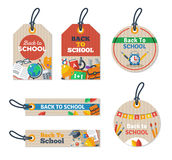 Set of Back to school tag Stock Image