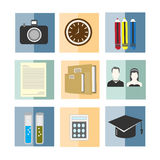 Set of back to school vector illustration icon Stock Photography