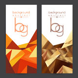 Set backdrop Abstract Brown, yellow, orange, brown and white colored Stock Images