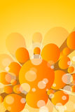 Set of background with 3d element. Set of orange background with 3d element Royalty Free Stock Photo