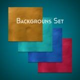 Set of background. Set of colored finger textured background for your design. Vector illustration. Plasticine modeling Stock Images