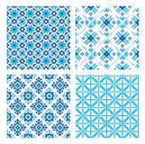Set of background with ethnic patterns. seamless pattern in folk style. Royalty Free Stock Images