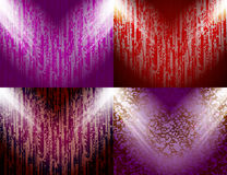 Set of Background with frames and spotlights. Stock Photos