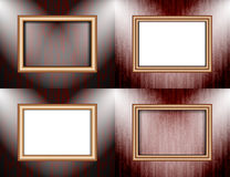 Set of Background with frames and spotlights. Stock Photography