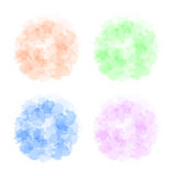 Set of background with imitation watercolor stains. Vector. Illustration Royalty Free Stock Images