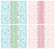 Set of background for invitation card vector Stock Images