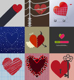 Set 9 background love Royalty Free Stock Photos