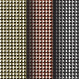 Set of background, metal studs. Vector illustration Royalty Free Stock Photography