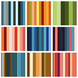 Set of background patterns - bands different colors royalty free illustration