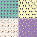 Set of background patterns Stock Photo