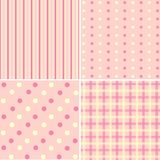 Set of 4  background patterns  pastel tones. Stock Image