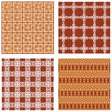 Set of background tiles in art deco style with geometric patterns Stock Photo