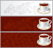 Set background with white glossy cup Stock Image